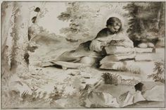 """""""Penitent Magdalene"""" Artist: Faccini, Pietro (Bologna ca. 1562 – 1602 Bologna) Date: 1590s Medium: pen, brown ink, brown and grey wash on paper Dimensions: 280 × 429 mm Museum of Fine Arts (Budapest)"""
