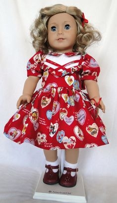 Valentine dress for Molly and Emily by dancingwithneedles on Etsy