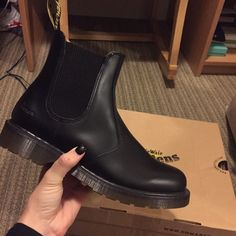 Doc marten black boots So cute! Unfortunately they are too big for me!☹ NEVER WORN!!! Dr. Martens Shoes Ankle Boots & Booties