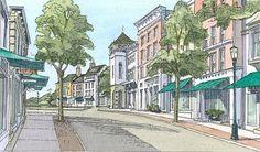 Downtown Scarborough..