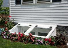 To add finished space to your basement building codes will require you to add basement egress windows. Basement egress windows are windows that have one primary function. Egress Window Well Covers, Basement Window Well Covers, Basement Windows, Basement House, Basement Bedrooms, Basement Bathroom, Modern Basement, Basement Kitchen, Cozy Basement