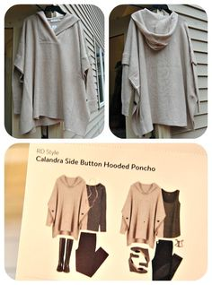 Curious about this one, I could see pairing it with some cozy knit leggings & my boots but I'm not sure if I'd look like I were wearing a potato sack or not  RD Style Calandra Side Button Hooded Poncho