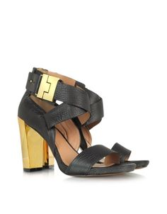 Brooklyn Black Leather Sandal - Signature box included.