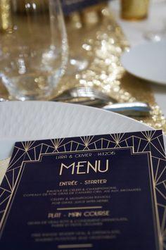 Mariage Art Deco - Navy & Gold - Dessine-moi une etoile (Design & Papeterie)