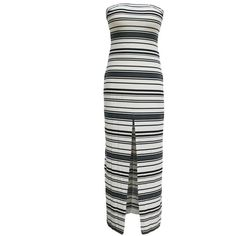 Maxi Robes Holiday Fashion Noir Blanc Stripes Robe ($12) ❤ liked on Polyvore featuring intimates, robes, petite robes, bath robes, petite bathrobes and dressing gown