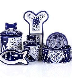 Let your pets dine in style with our Hand Painted Azul Ceramic Pet Bowls.