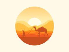 33 Ideas Design Icon Drawings For 2019 Icon Design, Design Ios, Logo Design, Flat Design Illustration, Landscape Illustration, Illustration Art, Camel Tattoo, Design Thinking, Designs To Draw