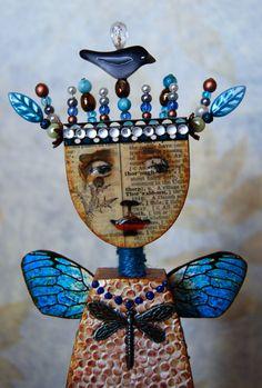 Altered Art Doll  Hope Big by desertdreamstudios on Etsy
