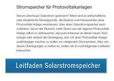 Solarstromspeicher: 660 Euro pro kWp Förderung startet am 1. Mai