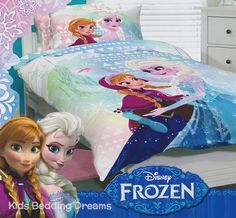 Frozen Sisters Quilt Cover Set featuring Anna and Elsa available in single and double bed sizes from Kids Bedding Dreams. Ideal for girls bedroom and a Frozen bedroom theme. Frozen Bedding, Frozen Quilt, Frozen Bedroom, Frozen Kids, Frozen Sisters, Disney Frozen, Beautiful Bedding Sets, King Single Bed, Double Quilt