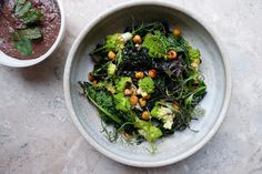 Roasted Kale, Romanesco and Chickpeas with Sorrel Sunflower Pesto – Wu Haus