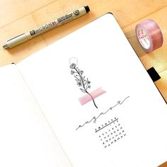 A simple August cover page 💐 Bullet Journal Cover Ideas, Bullet Journal Headers, Bullet Journal School, Bullet Journal Notebook, Bullet Journal Inspo, Bullet Journal Layout, Bullet Journals, Journal Ideas, Kalender Design