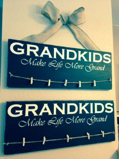 Grandkids make life more grand Photo holder. by TinasTinkers