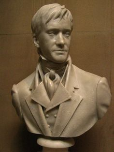 Mr. Darcy's bust in Pemberley, Pride and Prejudice, 2005, in Chatsworth House in England.