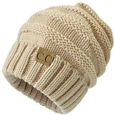 Trendy Warm Chunky Soft Stretch Cable Knit Beanie Skully (55 BRL) ❤ liked on Polyvore featuring accessories, hats, cable knit hat, chunky beanie, cable hat, beanie cap and beanie hat