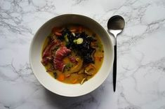 Nigel Slater's Miso Soup with Beef and Kale  Recipe on Food52 recipe on Food52