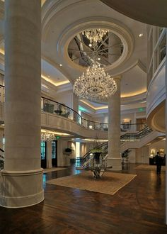 Luxurious Foyer and Stairs beautiful rooms luxury lifestyle gold collection tecn. Luxurious Foyer and Stairs beautiful rooms luxury lifestyle gold collection tecninova www. Luxury Chandelier, Luxury Lighting, Chandeliers, Modern Chandelier, Luxury Homes Dream Houses, Luxury Homes Interior, Dream Homes, Luxury Apartments, Modern Mansion Interior