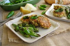 manchego-quinoa cakes with padron peppers @Patty Price / Patty's Food