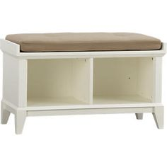 low storage bench- patterson from Crate and Barrel