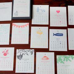 Sesame Letterpress 2013 Calendar