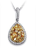 2.00 Carat Fancy Yellow Pear Design Diamond Pendant.  Dean's wife wore this to a wedding last weekend!  Spectacular color!