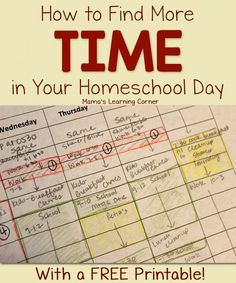 How to Find More Time in Your Homeschool Day