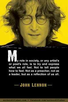 Singer-songwriter, musician, cultural icon, and peace activist, John Lennon, was twice inducted into the Rock and Roll Hall of Fame—first as a member of The Beatles, and again as a solo artist. #JohnLennon #TheBeatles #WritingInspiration #songwriting #humanity