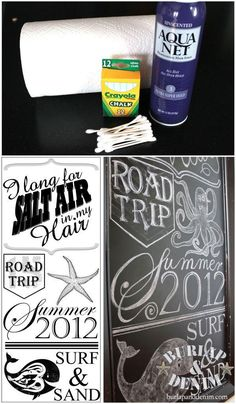 Chalkboard Art. Great tips on lay-out, & preserving it so little fingers do not smear, as well as. Supplies. Very helpful.