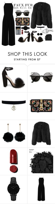 """pew"" by dreamer-97 ❤ liked on Polyvore featuring Steve Madden, Dolce&Gabbana, Balenciaga, Urban Decay, CLUSE and Warehouse"
