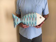 Fish Pillow  Coastal Decor  Nautical Nursery  by CatherinePicone