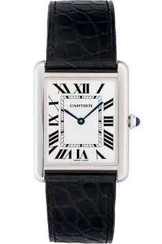 I'm hoping a Cartier Tank will be perfect! Cartier Tank Solo Stainless Steel Watch on Leather Strap, Large. Cartier Tank Solo, Cartier Watches Women, Watches For Men, Rolex Watches, Idda Van Munster, Cartier Panthere, Tank Watch, Cartier Santos, Estilo Fashion