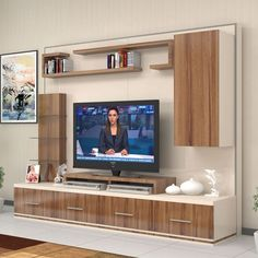 Riva tv Ünitesi Ünitechi home furniture Living Room Tv Unit, Modern Tv Wall Units, Tv Wall Design, Cabinet Design, Tv Room Design, Interior Design, Wall Unit, Living Room Designs, Living Room Tv