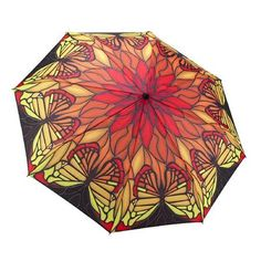 Galleria Red Stained Glass Folding Umbrella, $30 !!