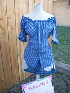 Upcycled Recycled Western Pearl Snap Men's Shirt by libbyjoy1