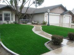 artificial-grass-front yard