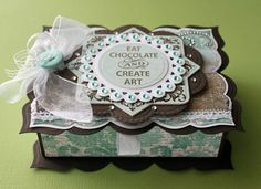 Keep Calm and Eat Chocolate box designed by Beate Johns
