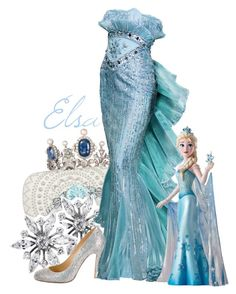 """Elsa Figure"" by jen-the-glader ❤ liked on Polyvore featuring Lauren K, Alexander McQueen, Allurez and Christian Louboutin"