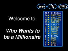 who wants to be a millionaire template primary resources