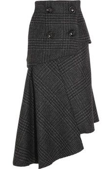 Recycle a suitcoat...add elastic back? Pedro del Hierro Madrid Camilo asymmetric wool skirt | NET-A-PORTER