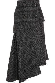 Recycle a suitcoat...add elastic back? Pedro del Hierro Madrid Camilo asymmetric wool skirt | NET-A-PORTER