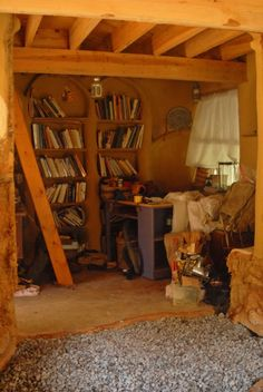 Hobbit house library