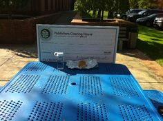 The Big Check is enjoying a sunny lunch break. Where do you like to eat lunch?