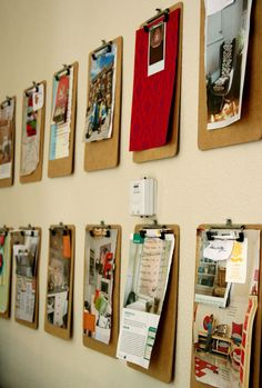 "Clipboards to display project documentation and/or children's work. Especially practically for documentation that is ""in process!"""