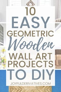 Fill an empty wall with a fun geometric wooden project. These 10 wooden geometric designs are easy to make, and so budget friendly. Use paint or stain to customize these projects for any space. Wooden Wall Art, Diy Wall Art, Diy Wall Decor, Wood Wall, Diy Artwork, Artwork Ideas, Table Setting Inspiration, Inspiration Wall, Cool Diy Projects