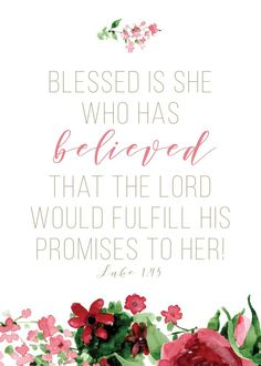 Blessed is she who has believed – Luke . Scripture Quotes, Bible Scriptures, Scripture Pictures, Biblical Quotes, Blessed Is She, Luke 1, Thing 1, Favorite Bible Verses, Christian Inspiration