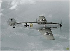 A Me 109 E, supposed to be the airplane of Oberleutnant Helmut Wick, leader of the 3. Staffel of I./JG2. July, 1940