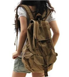 Classic Canvas Rucksack Backpack