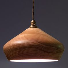 Turned Ash Wood Light Fitting Wooden Shade by OrinokoDesign