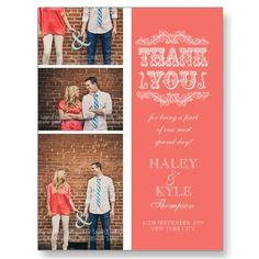 Get your hands on a customizable Wedding Thank You postcard from Zazzle. Find a large selection of sizes and shapes for your postcard needs! Thank You Photos, Photo Thank You Cards, Red Wedding, Wedding Day, Budget Wedding, Luxury Wedding, Perfect Wedding, Wedding Reception, Wedding Venues