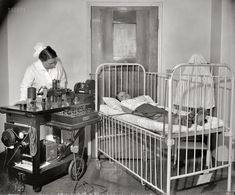 """Okay, what kind of procedure is this little guy getting? What's going on here??Washington, D.C., circa 1937. """"Children's Hospital Rotary."""""""